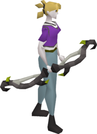 Twisted bow equipped