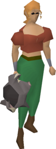Black chinchompa equipped