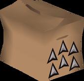 Broad arrowhead pack detail