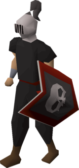 Heraldic helm (Skull) equipped