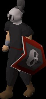 Heraldic helm (Skull) equipped