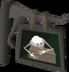 Skull in a Chest Inn sign