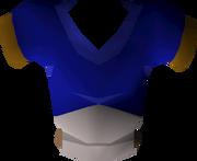 Blue goblin mail detail