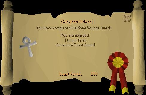 Bone Voyage reward scroll