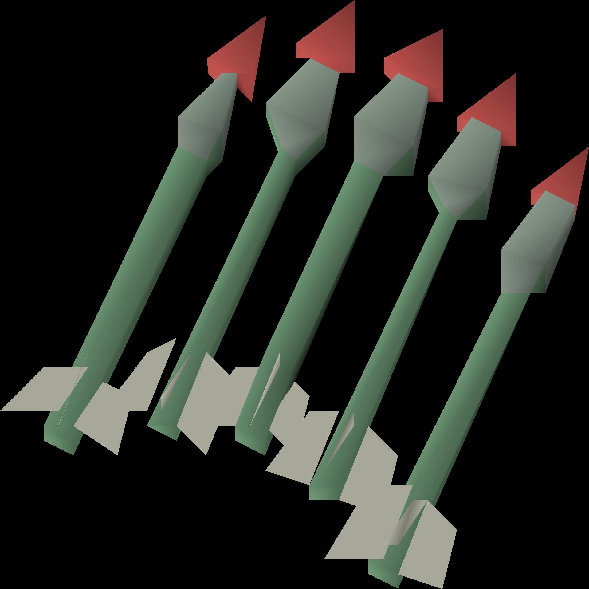 Ruby bolts (e) detail