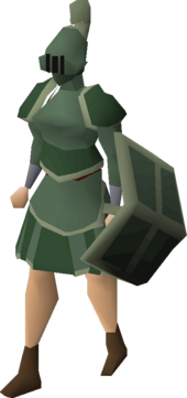 Adamant trimmed set (sk) equipped