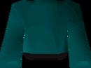Teal robe top detail