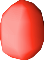 Bird's egg (red) detail