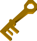 Brass key detail