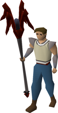 Dragon cane equipped