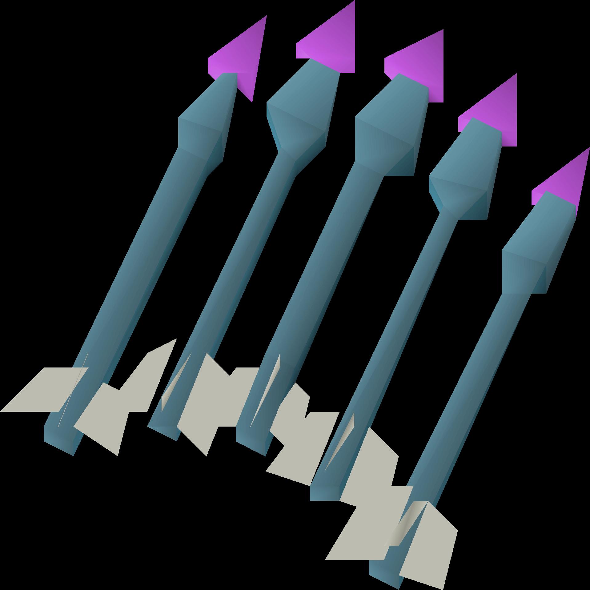 Dragonstone bolts (e) detail