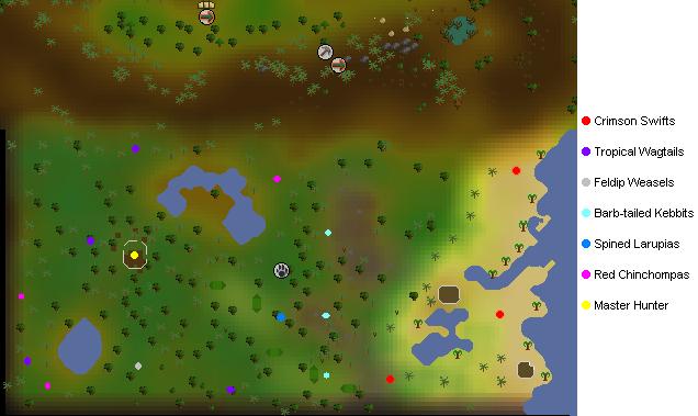 Feldip Hunter area map