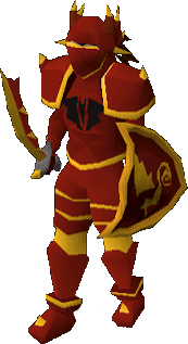 Dragon gold-trimmed set (lg) equipped