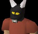 Black h'ween mask