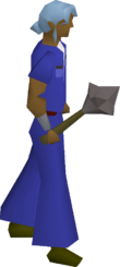 Iron mace equipped