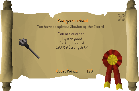 Shadow of the Storm reward scroll