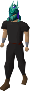 Tanzanite helm (uncharged) equipped