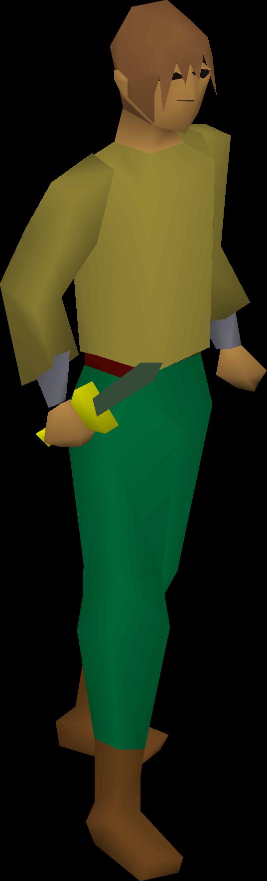 Adamant dagger equipped