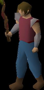 Beginner wand equipped