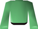 Green robe top detail