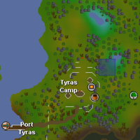 Hot cold clue - Tyras Camp map