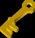 Battered key detail