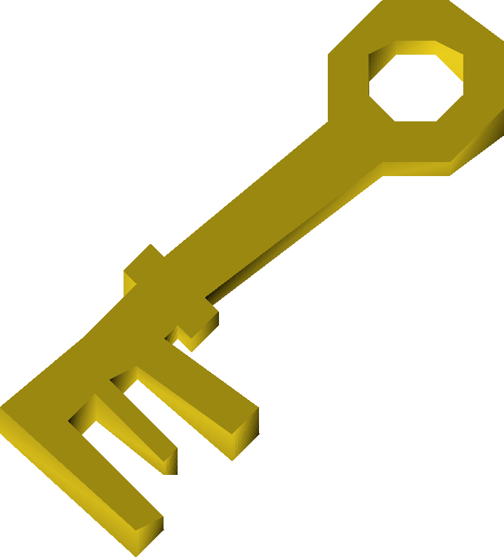 Golden key detail