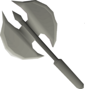 Dwarven battleaxe (sharp) detail