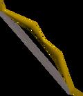 Oak longbow detail
