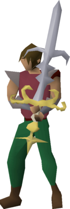 Saradomin godsword (or) equipped