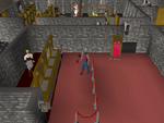 Emote clue - push up warrior guild bank