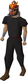 Magma helm equipped