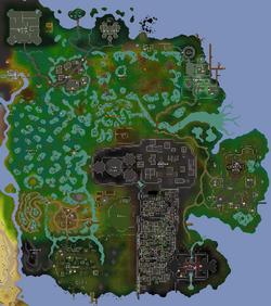 Morytania map