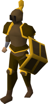Bronze gold-trimmed set (lg) equipped