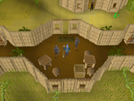 Emote clue - kiss shilo village