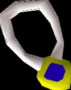 Sapphire amulet detail