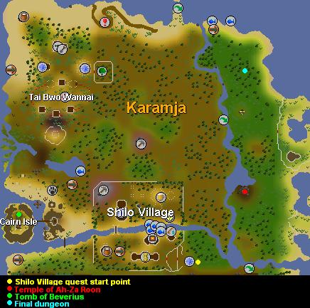 Shilo Village Quest Map