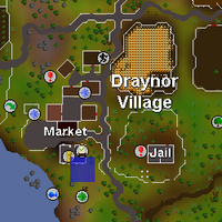 Hot cold clue - south of Draynor bank map