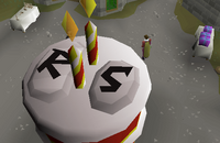 OSRS 2nd birthday cake