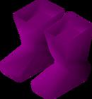 Purple boots detail