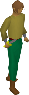 Steel dagger equipped
