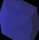 Uncut sapphire detail