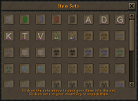Grand Exchange item set exchange