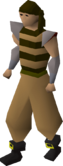 Pirate clothing (brown) equipped