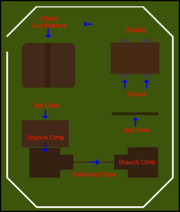 Gnome Stronghold Agility Course map