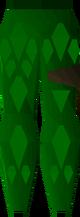 Green d'hide chaps detail