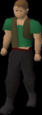 Torn waistcoat