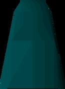 Teal robe bottoms detail
