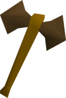 Bronze battleaxe detail