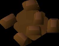 Chocolate chunks detail